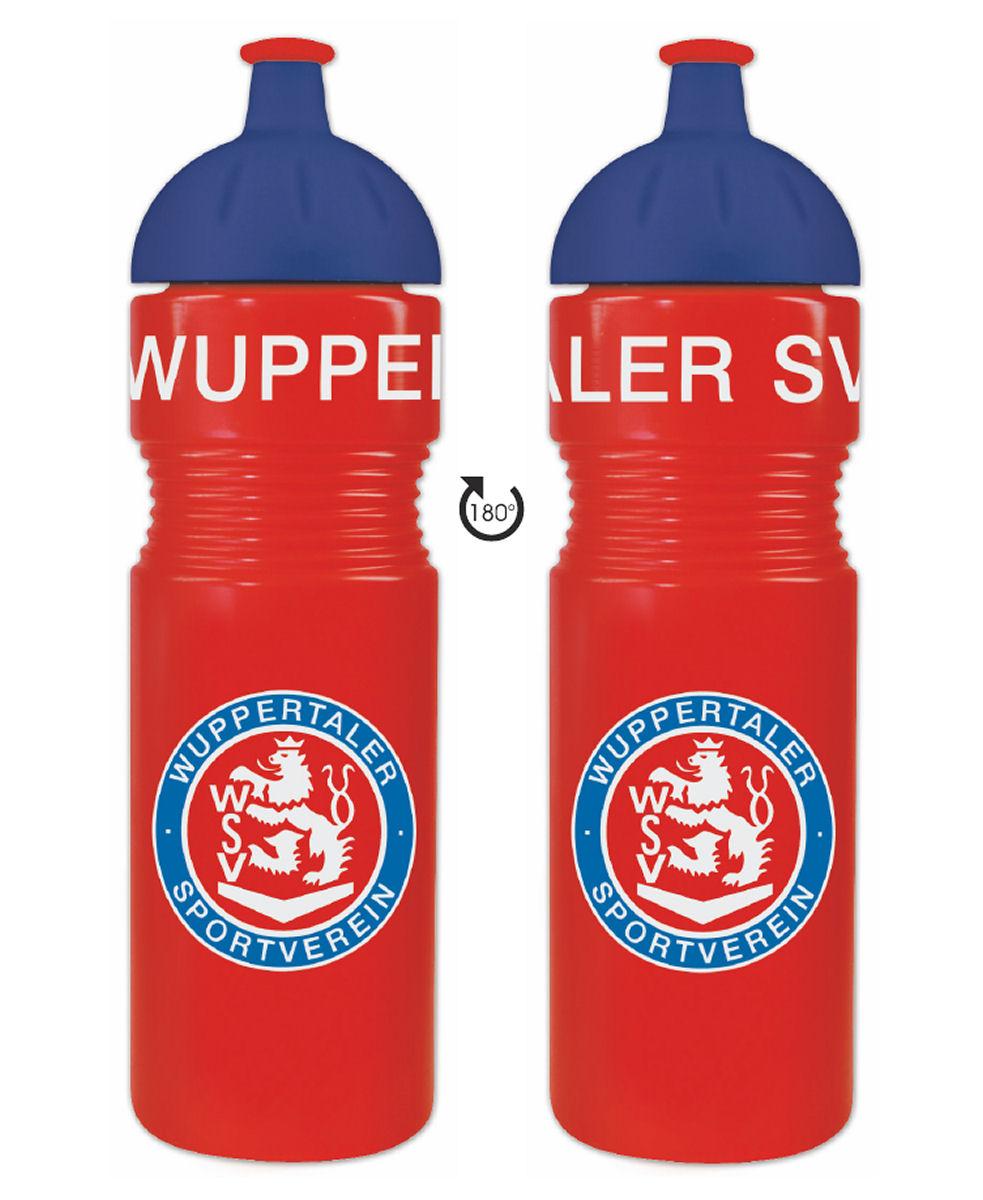 Trinkflasche rot-blau