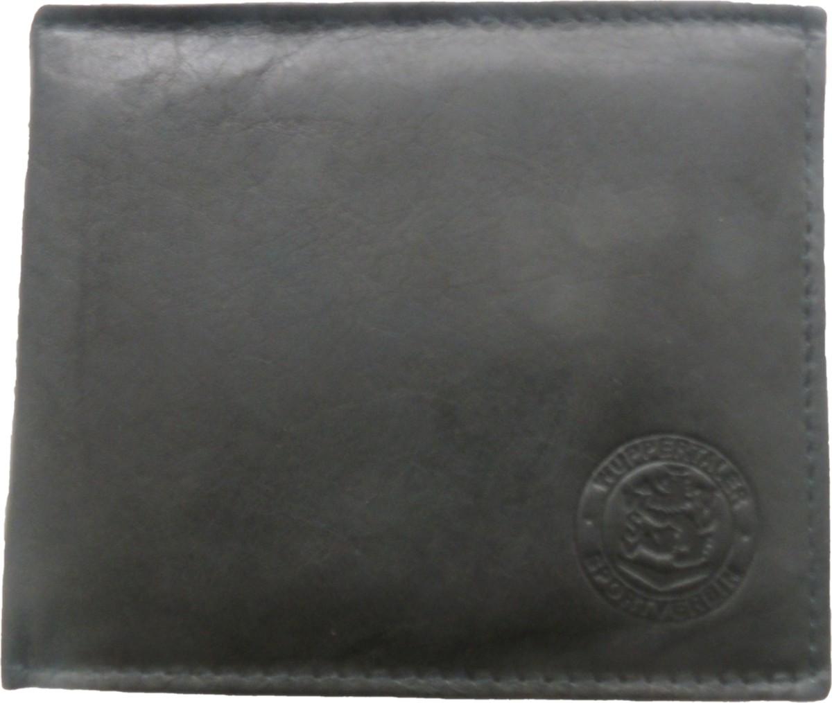 WSV-Echtledergeldbörse schwarz mit Wappenprägung