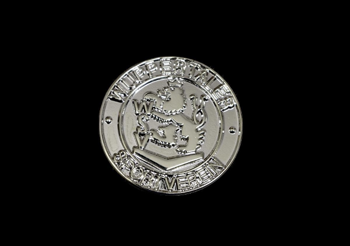 Pin WSV-Wappen rund silberfarbig