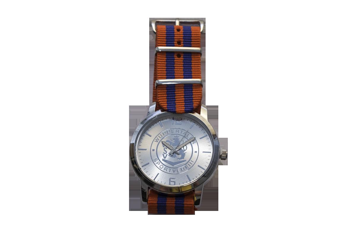 Armbanduhr Stripes mit Wappenapplikation