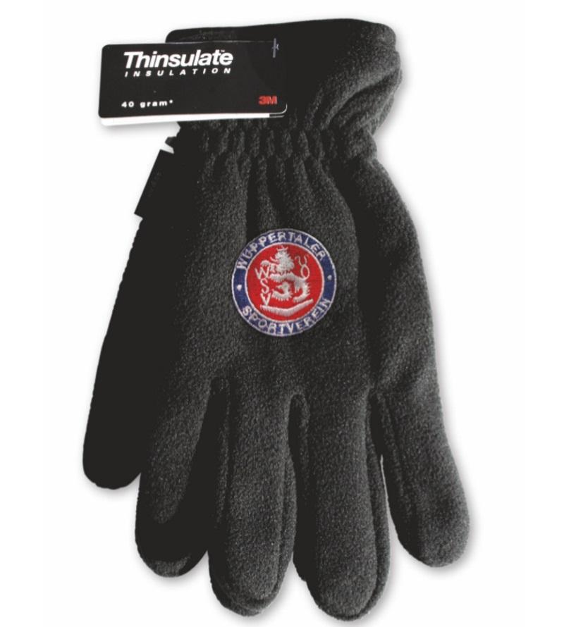 Herren-Handschuhe >Fleece< mit Wappenstick Gr. 10
