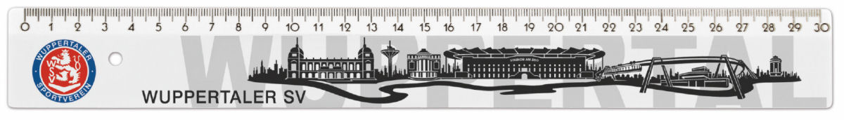 WSV-Lineal 30 cm Stadtsilhouette