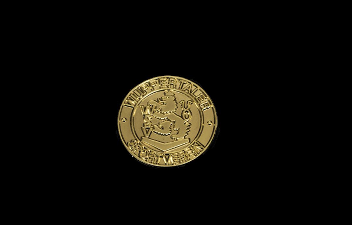 Pin WSV-Wappen rund goldfarbig