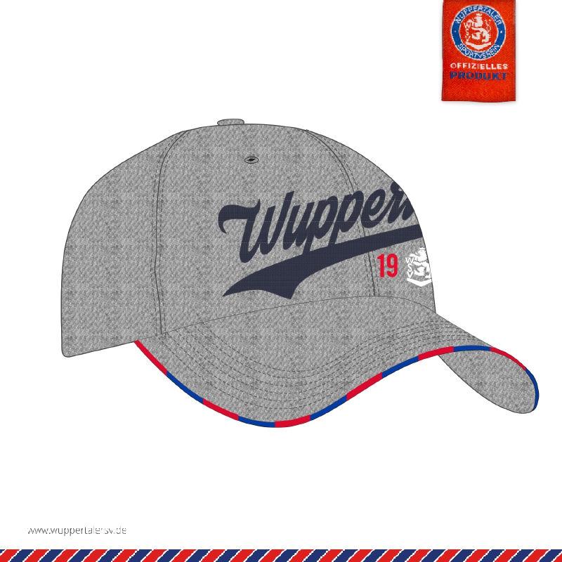 """Baseballcap """"Wuppertal"""" gray melange"""